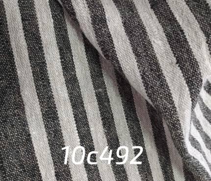 Ткань льняная для декора в полоску