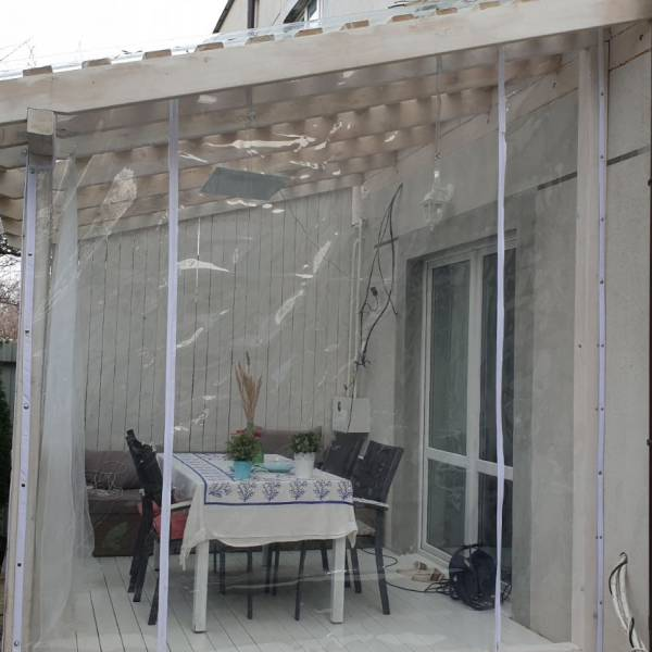 Мягкие окна - белый кант