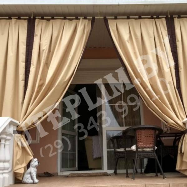 Комбинированные шторы на террасу