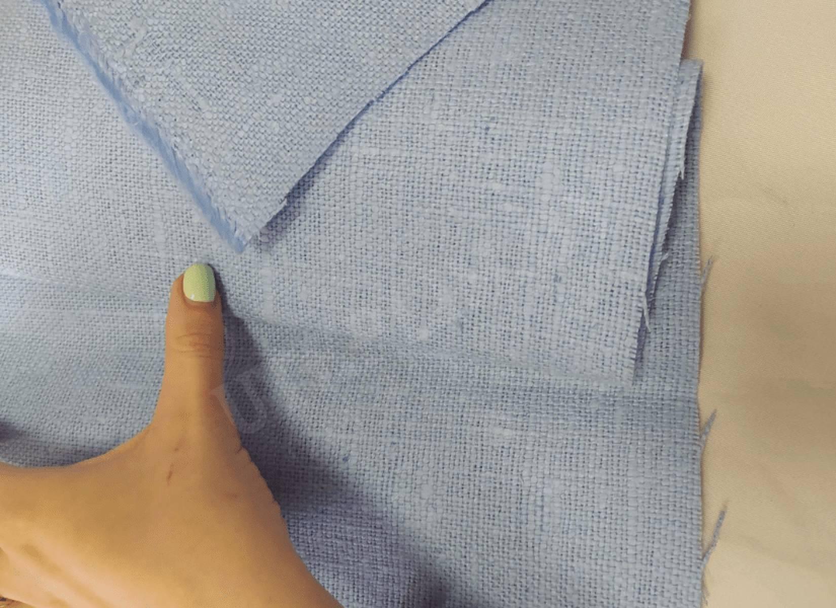 Мешковина для декора 4с81 - голубой