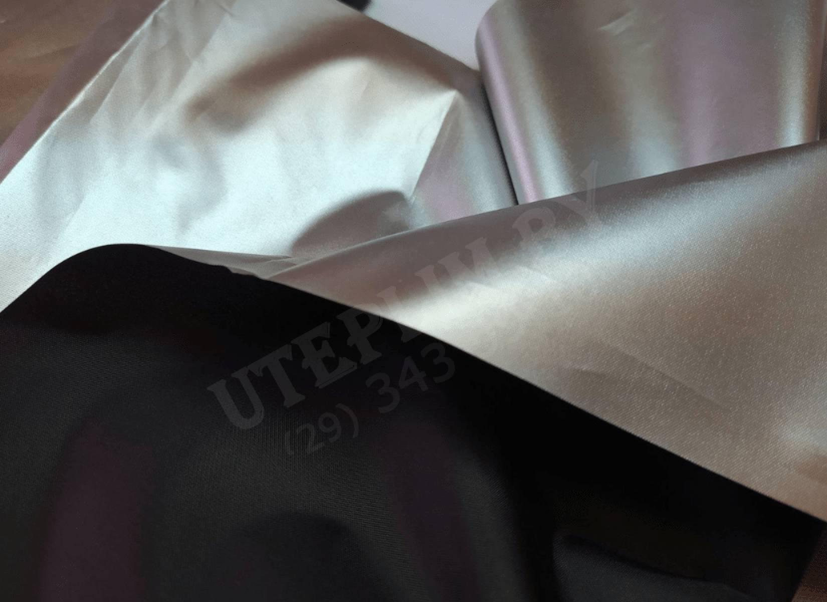 Серебряная курточная ткань