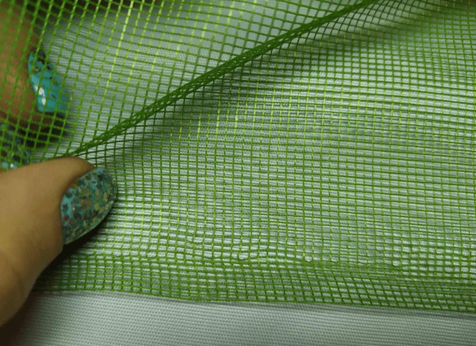 Полотно гардинное зеленое