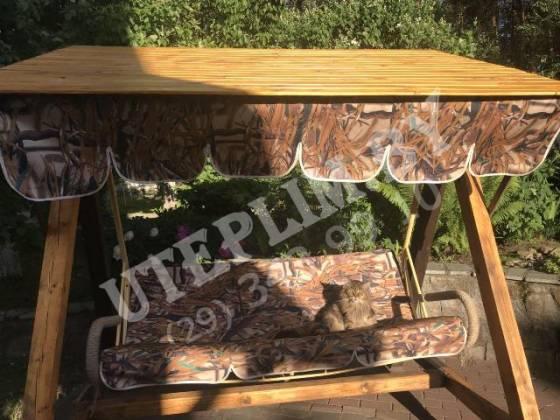 Тент на сидушки садовых качелей