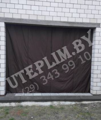Шоколадные гаражные шторы